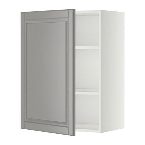 Metod armario de pared con baldas blanco bodbyn gris - Armario con baldas ...
