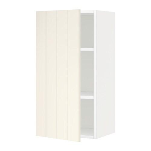 Metod armario de pared con baldas blanco hittarp hueso - Baldas armario ikea ...