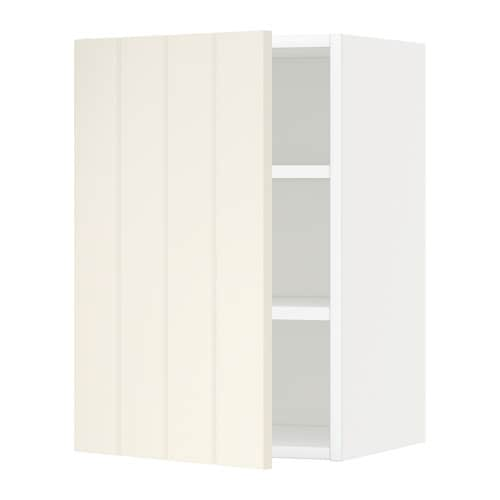 Metod armario de pared con baldas blanco hittarp hueso - Armario con baldas ...