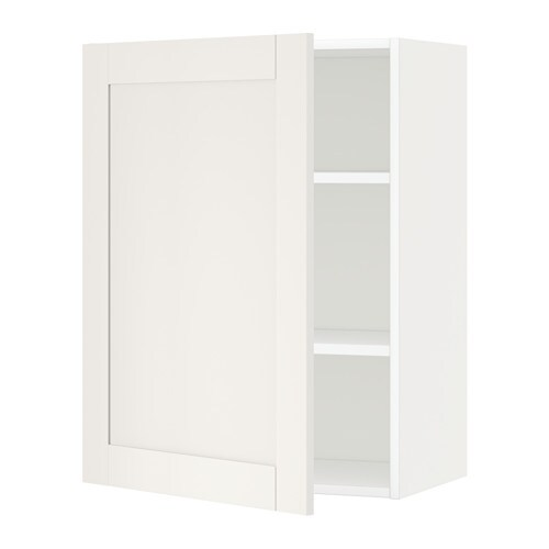 Metod armario de pared con baldas blanco s vedal blanco - Armario con baldas ...