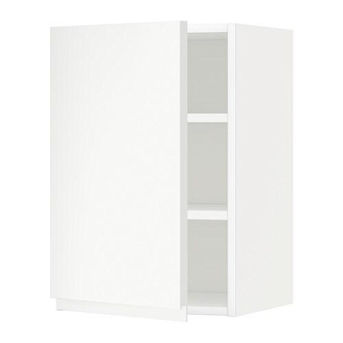 Metod armario de pared con baldas blanco voxtorp blanco - Baldas armario ikea ...