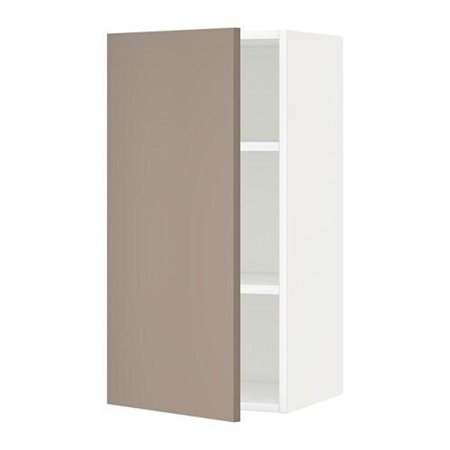 Metod armario de pared con baldas blanco ubbalt beige - Armarios con baldas ...