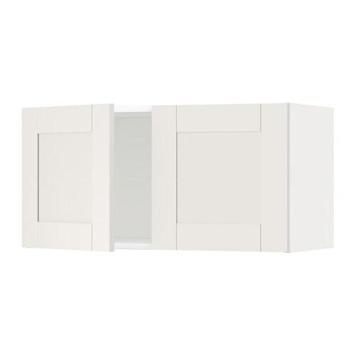 Metod armario de pared con 2 puertas s vedal blanco ikea for Armario 2 puertas ikea