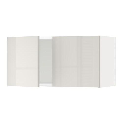 Metod armario de pared con 2 puertas blanco ringhult for Armario 2 puertas ikea