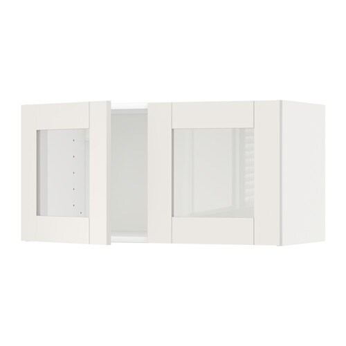 metod armario de pared con 2 puertas vitr blanco s vedal blanco ikea. Black Bedroom Furniture Sets. Home Design Ideas