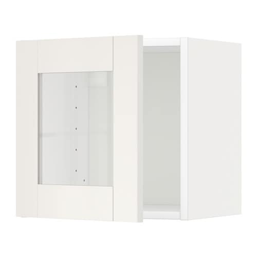 metod armario de pared con vitrina s vedal blanco ikea. Black Bedroom Furniture Sets. Home Design Ideas