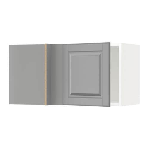 Metod armario de pared esquina cocina blanco bodbyn gris ikea - Ikea armarios de cocina ...