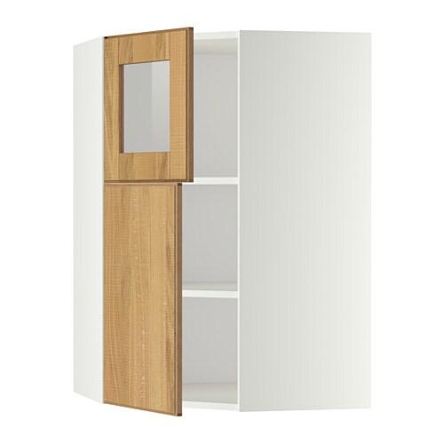Metod armario de pared esquina con baldas blanco hyttan - Armarios de esquina ...