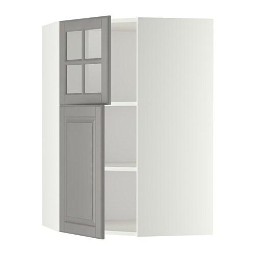 Metod armario de pared esquina con baldas blanco bodbyn - Baldas armario ikea ...