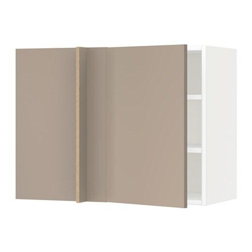 Metod armario de pared esquina con baldas blanco ubbalt - Baldas para pared ...