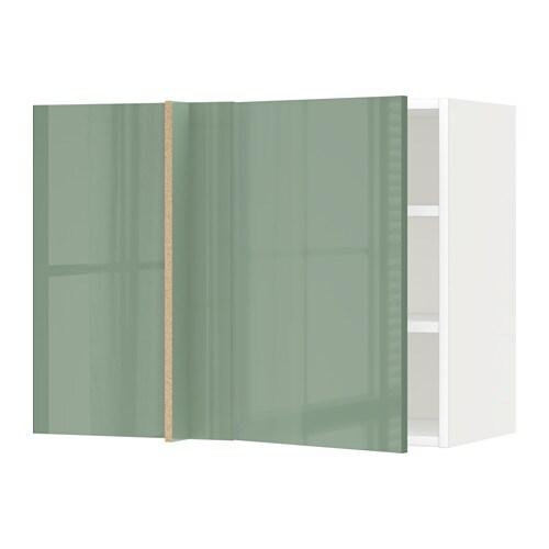Metod armario de pared esquina con baldas blanco - Armarios de esquina ikea ...