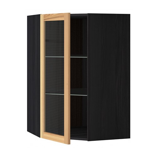Metod armario de pared esquina con baldas efecto madera - Armario de esquina ...