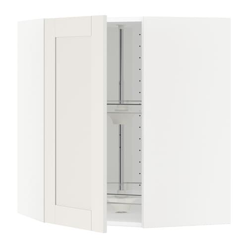 Adesivo De Flamingo ~ METOD Armario de pared esquina, giratorio blanco, Sävedal blanco, 68×80 cm IKEA