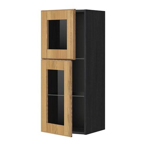 Metod armario de pared puertas de vidrio efecto madera - Armario de chapa ...
