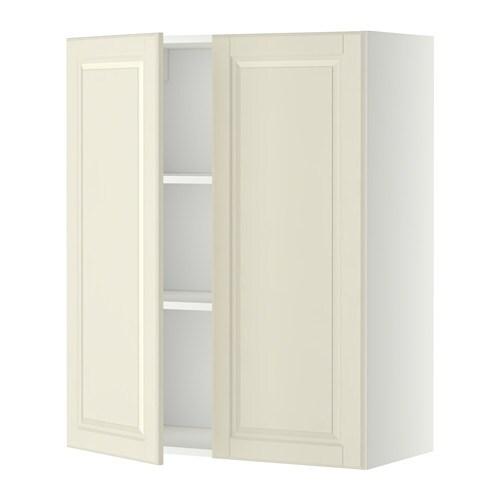 Metod armario pared baldas 2 puertas blanco bodbyn - Baldas armario ikea ...