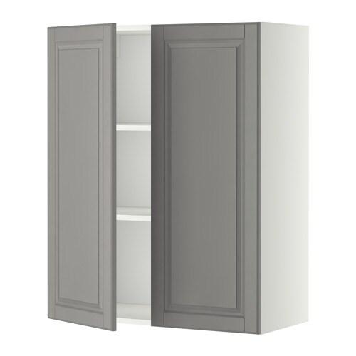 Metod armario pared baldas 2 puertas blanco bodbyn gris - Baldas armario ikea ...