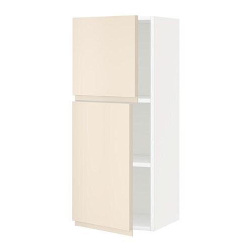 Metod armario pared baldas 2 puertas blanco voxtorp - Baldas armario ikea ...