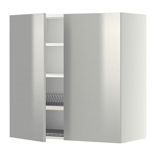 Metod armario pared escurreplatos puert blanco grevsta - Escurreplatos de pared ...