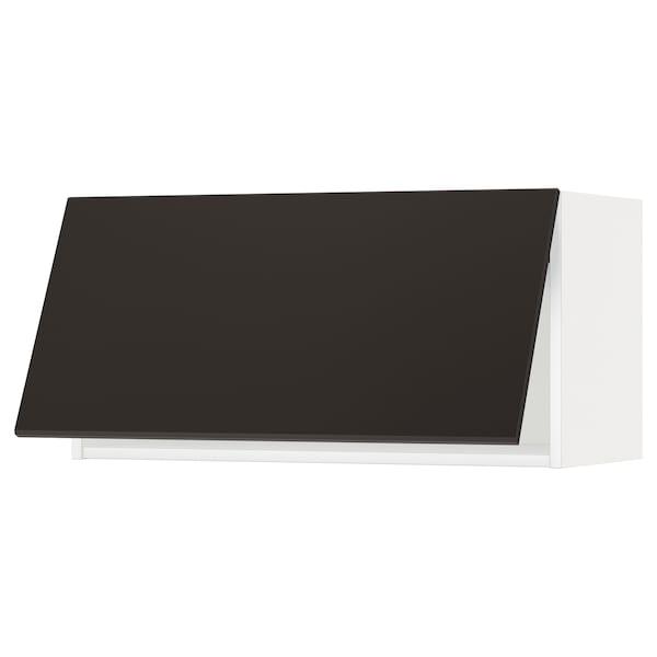 METOD Armario pared horizontal, blanco/Kungsbacka antracita, 80x40 cm