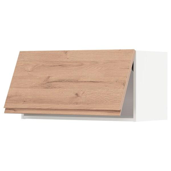 METOD Armario pared horizontal, blanco/Voxtorp efecto roble, 80x40 cm
