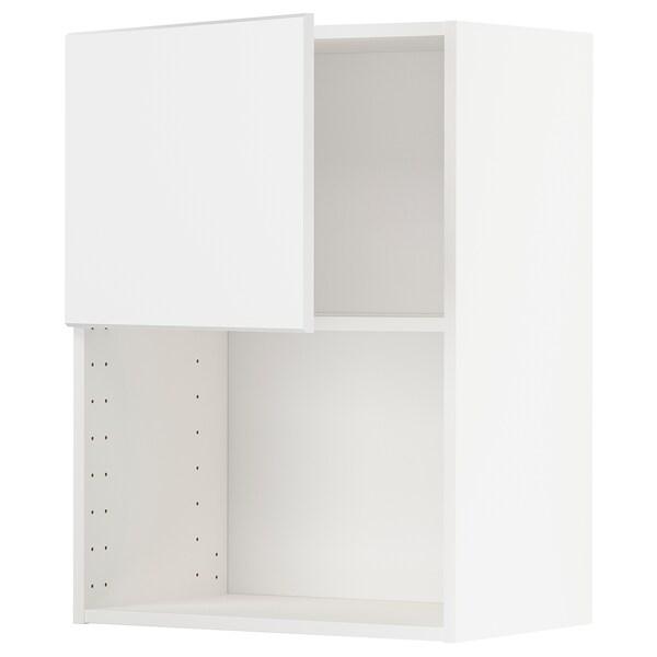 METOD Armario de pared para microondas, blanco/Kungsbacka blanco mate, 60x80 cm