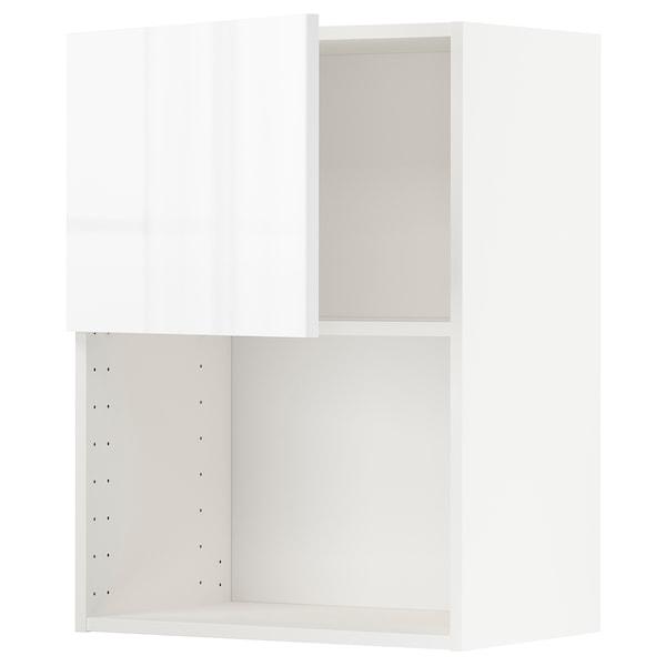 METOD Armario de pared para microondas, blanco/Ringhult blanco, 60x80 cm