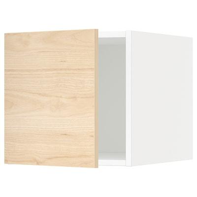 METOD Armario superior, blanco/Askersund efecto fresno claro, 40x40 cm