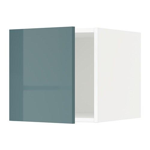 Metod armario superior blanco kallarp alto brillo gris for Armario blanco ikea dos puertas