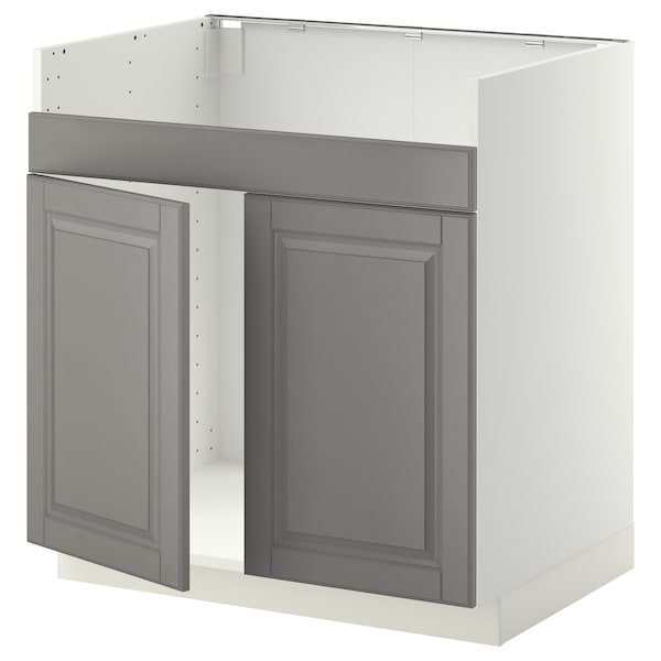 METOD armario bajo fregadero doble HAVSEN blanco/Bodbyn gris 80.0 cm 61.9 cm 88.0 cm 60.0 cm 80.0 cm
