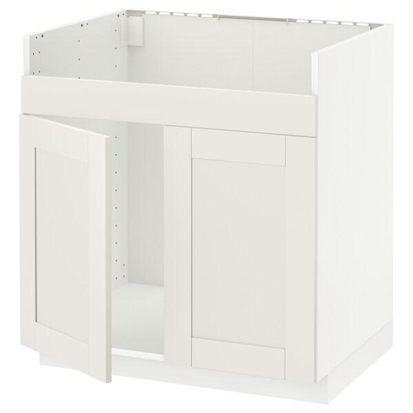 METOD armario bajo fregadero doble HAVSEN blanco/Sävedal blanco 80.0 cm 61.8 cm 88.0 cm 60.0 cm 80.0 cm