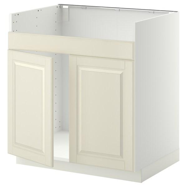 METOD armario bajo fregadero doble HAVSEN blanco/Bodbyn hueso 80.0 cm 61.9 cm 88.0 cm 60.0 cm 80.0 cm