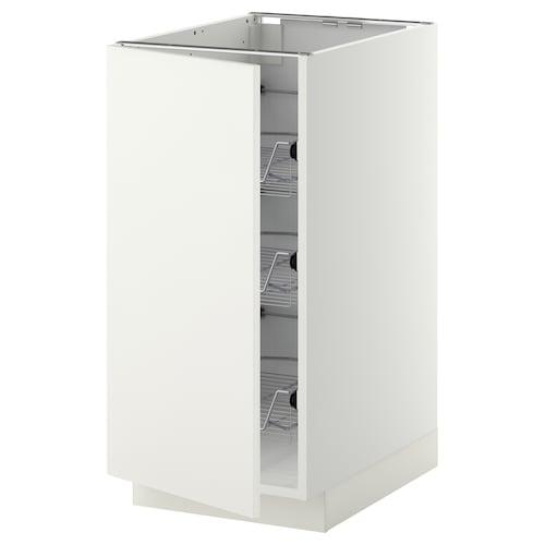 METOD abj+cstrej blanco/Häggeby blanco 40.0 cm 61.6 cm 88.0 cm 60.0 cm 80.0 cm