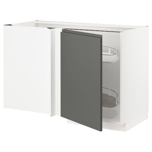 METOD abjesq+accxtríbl blanco/Voxtorp gris oscuro 127.5 cm 67.5 cm 88.0 cm 80.0 cm