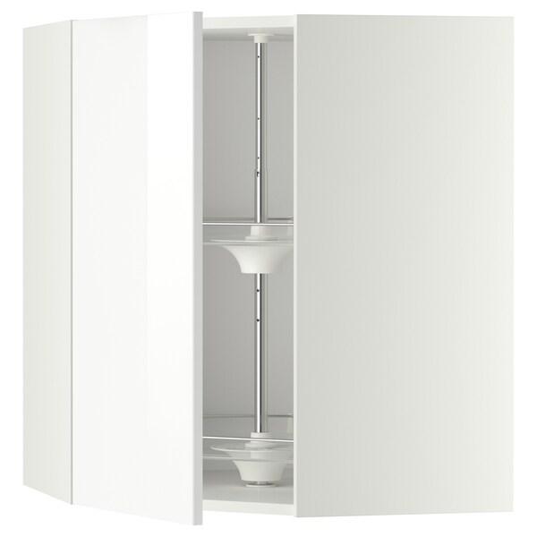 METOD armario de pared esquina, giratorio blanco/Ringhult blanco 67.5 cm 67.5 cm 80.0 cm