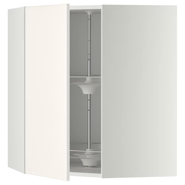 METOD armario de pared esquina, giratorio blanco/Veddinge blanco 67.5 cm 67.5 cm 80.0 cm