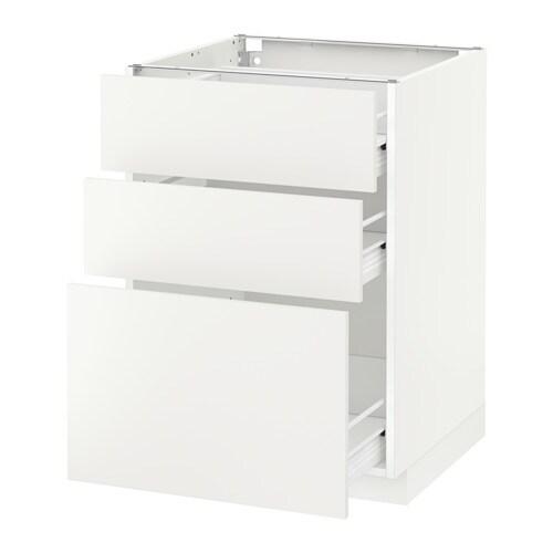 METOD/FÖRVARA Armario bajo cocina con 3 cajones Blanco/häggeby ...