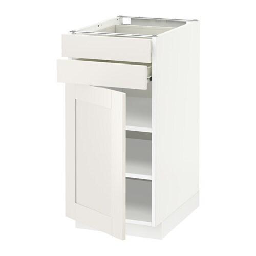 Metod f rvara armario bajo cocina 2 cajones blanco for Cajones cocina ikea