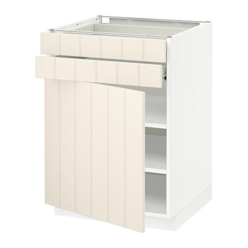 Metod f rvara armario bajo cocina 2 cajones blanco - Cajones cocina ikea ...