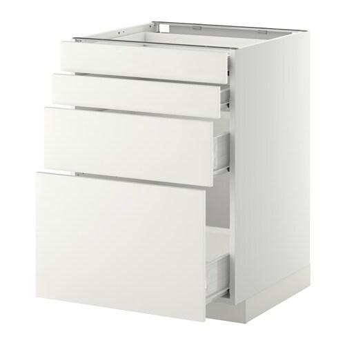 Metod f rvara armario bajo cocina con 4 cajones blanco - Cocina armario ikea ...