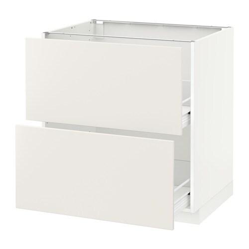 Metod f rvara armario bajo cocina con 2 cajones for Cajones cocina ikea