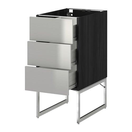 Metod f rvara armario bajo cocina con 3 cajones efecto - Ikea cajones cocina ...