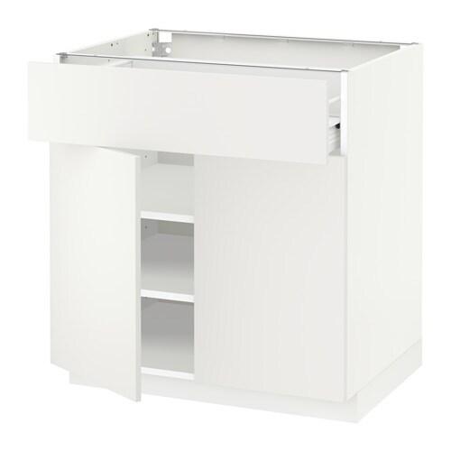 METOD / FÖRVARA Armario bajo cocina 2 puertas cajón - Häggeby blanco ...