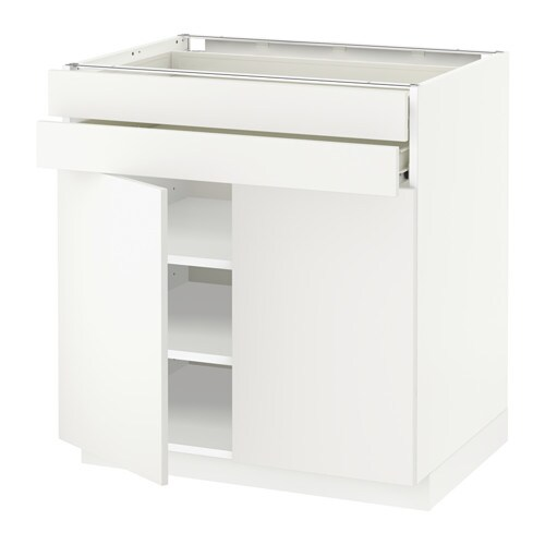 Metod f rvara armario bajo 2 puertas 2 cajones blanco - Cajones armario ikea ...