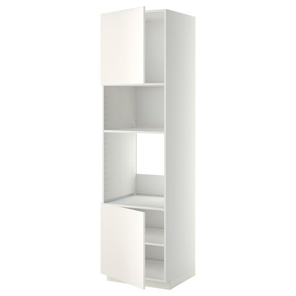 METOD aahorno/micro+2pt/bld blanco/Veddinge blanco 60.0 cm 61.6 cm 228.0 cm 60.0 cm 220.0 cm