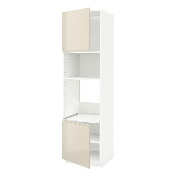 METOD aahorno/micro+2pt/bld blanco/Voxtorp al br beige cl 60.0 cm 61.9 cm 228.0 cm 60.0 cm 220.0 cm