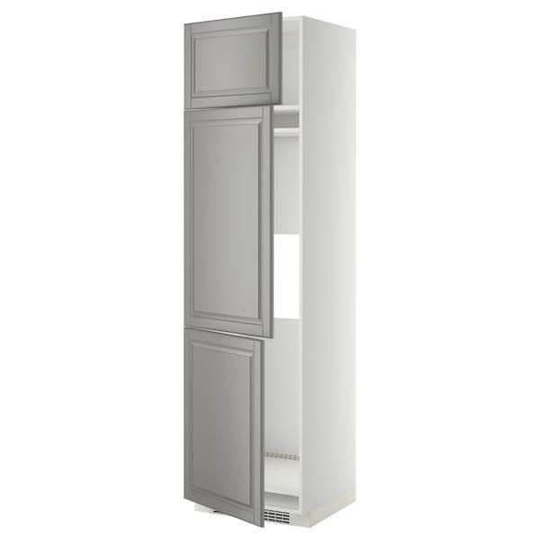 METOD aafrigo/cong+3pt blanco/Bodbyn gris 60.0 cm 61.9 cm 228.0 cm 60.0 cm 220.0 cm