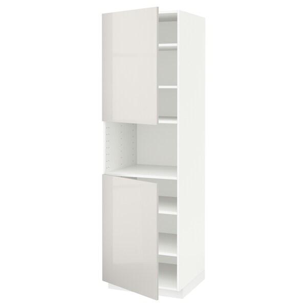 METOD aamicro+2pt/bld blanco/Ringhult gris claro 60.0 cm 61.8 cm 208.0 cm 60.0 cm 200.0 cm
