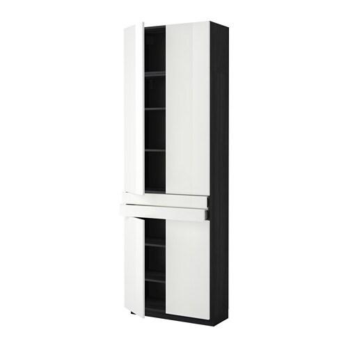 Metod maximera aa 4p 2c efecto madera negro ringhult for Amortiguador armario cocina