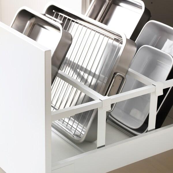 METOD / MAXIMERA Aahorno+pt/2frt2cj, blanco/Häggeby blanco, 60x60x200 cm