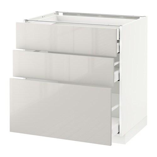 Metod maximera ab 3f 4c blanco ringhult alto brillo for Ikea muebles cocina bajos